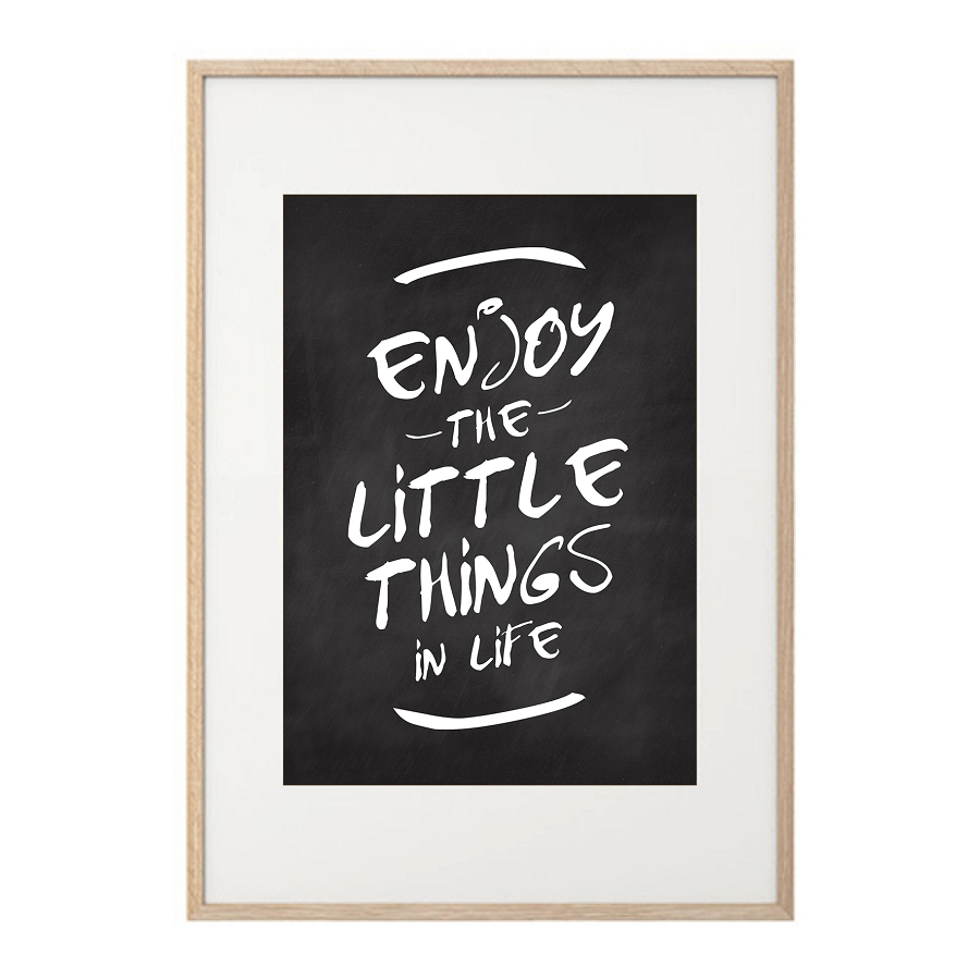 Ribba Frame Enjoy The Little Things - Prints | May And Belle