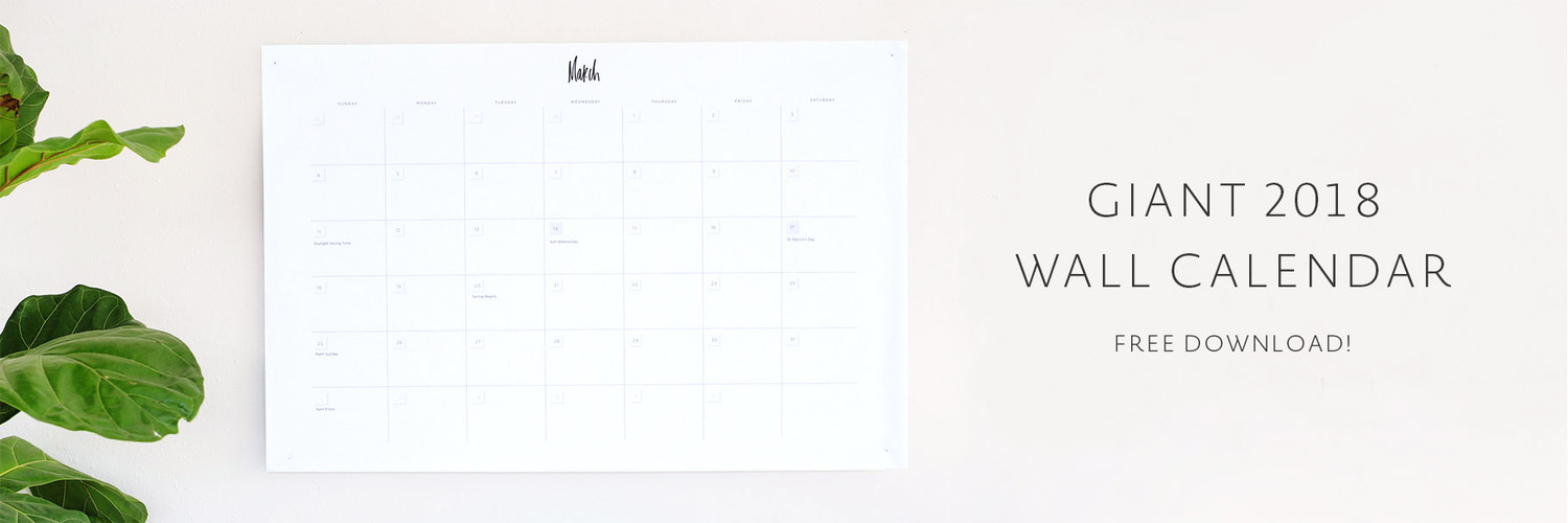 2018 Wall Calendar Printable May Designs