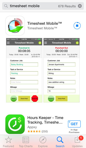 Timesheet Mobile the Paperless, Timekeeping App MayeCreate Design