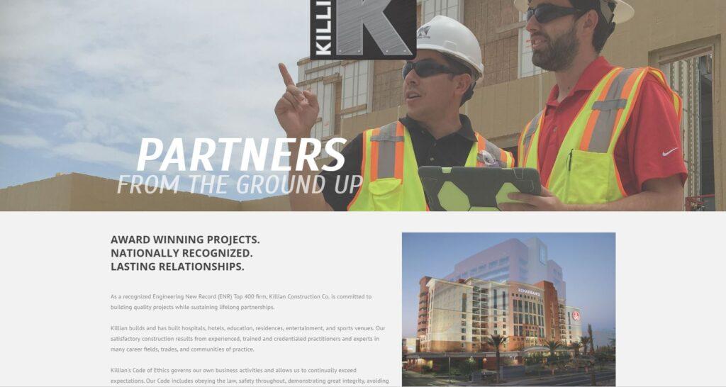 Great Construction Company Website Designs MayeCreate Design