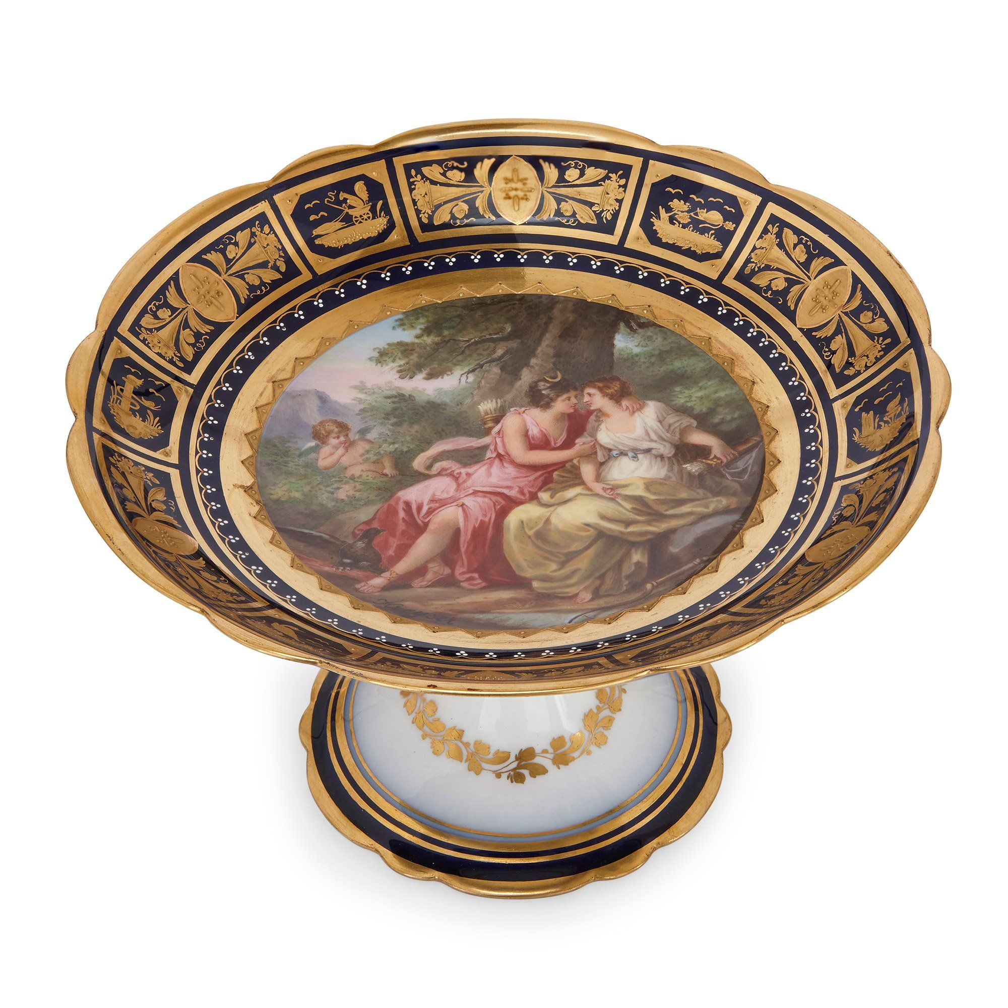 Porzellan Service Royal Vienna Porcelain Antique Dessert Service | Mayfair