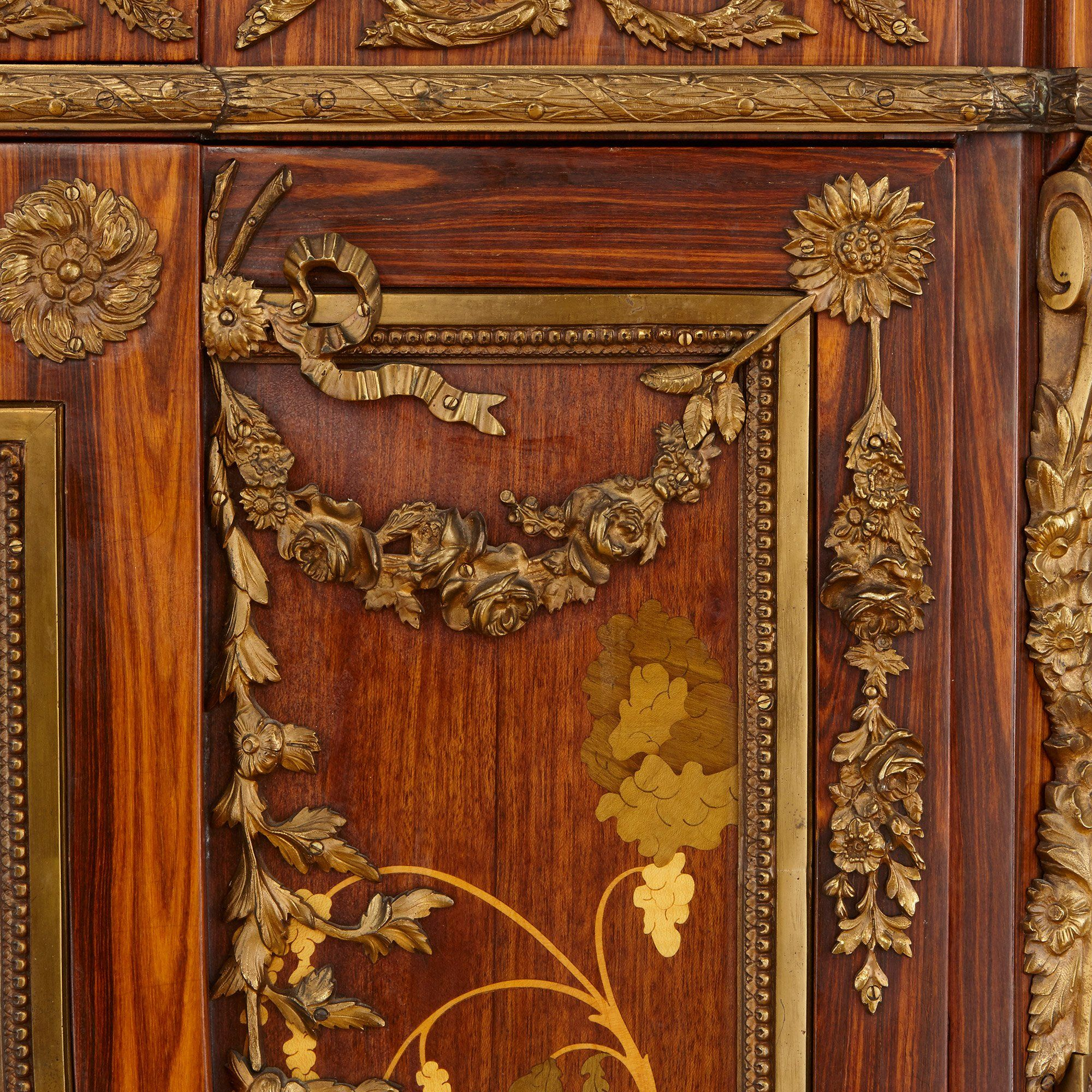 Secretaire X Ormolu Mounted Marquetry French Antique Secrétaire