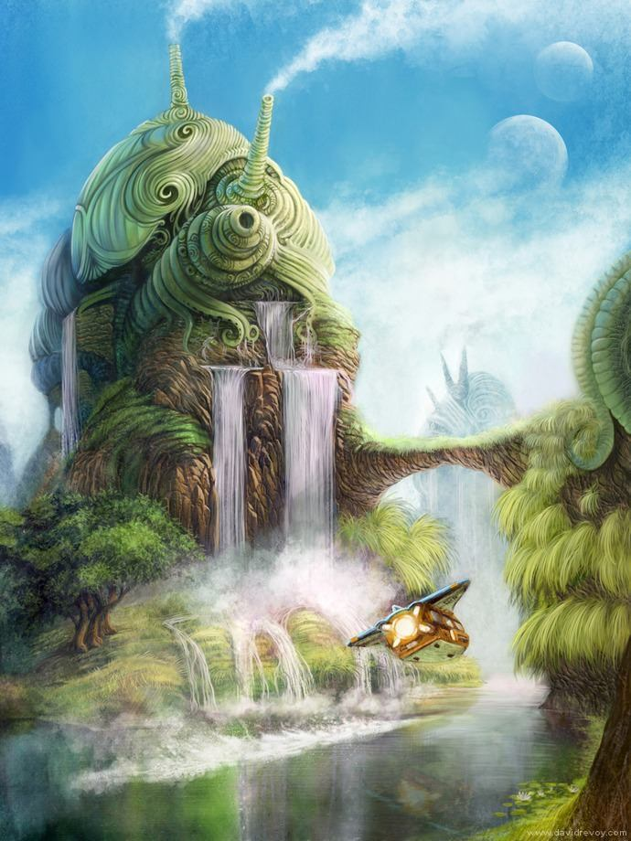 God Is Within Her She Will Not Fall Wallpaper Fairy Tale And Fantasy Illustrations By David Revoy