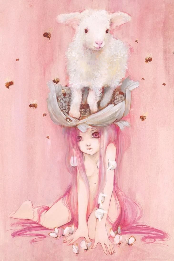 Cute Vintage Wallpaper Manga Comic Paintings By Camilla D Errico 171 Art