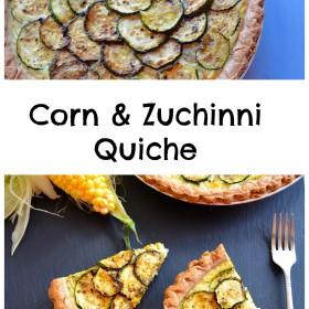 Corn & Zucchini Quiche #vegetarian #Quiche #appetizer #MemorialDay