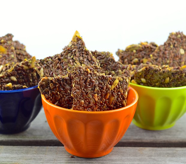 super crunchy and satisfying flax and chia seed crackers