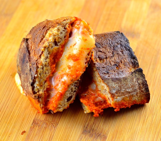 Romesco manchego grilled cheese sandwich