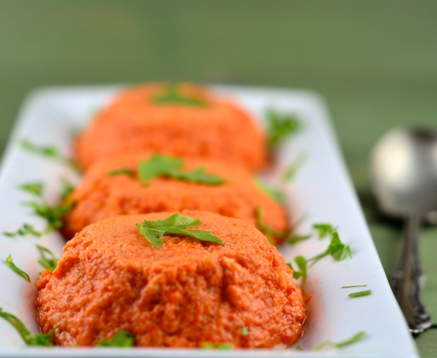 Roated red pepper flan recipe
