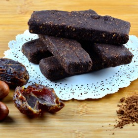 Date, cocoa & Hazelnut Bars #vegan #sugarFree #dates #cocoa #glutenFree #kosher #bars #nutella