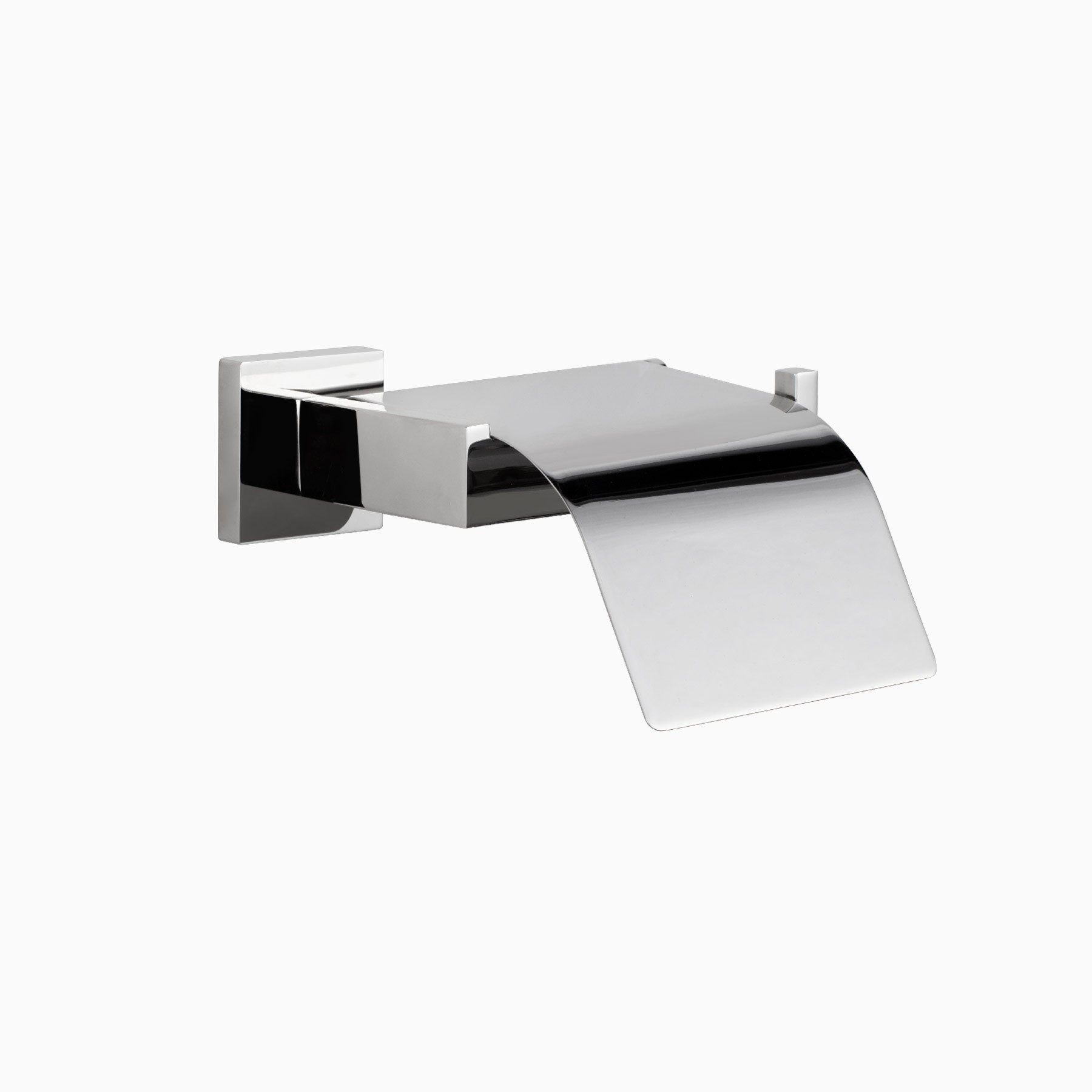 Stainless Steel Toilet Roll Holder Tribeca Wall Mounted Toilet Paper Roll Holder With Cover