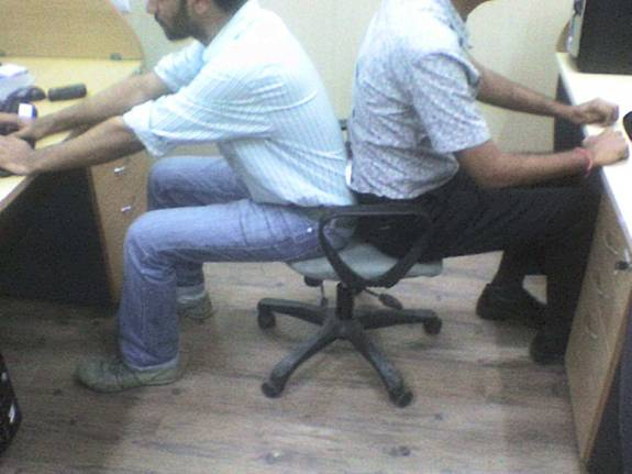 The Double Seater Workstation Chair