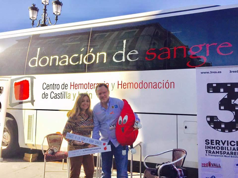 En busca de sangre, inmobiliarios solidarios en Valladolid