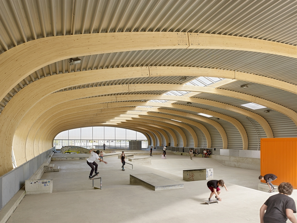 Structural Design Of Roof Garden Skatepark Housing, Stuttgart - Structural Design