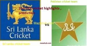 Pakistan vs Sri Lanka 2nd ODI