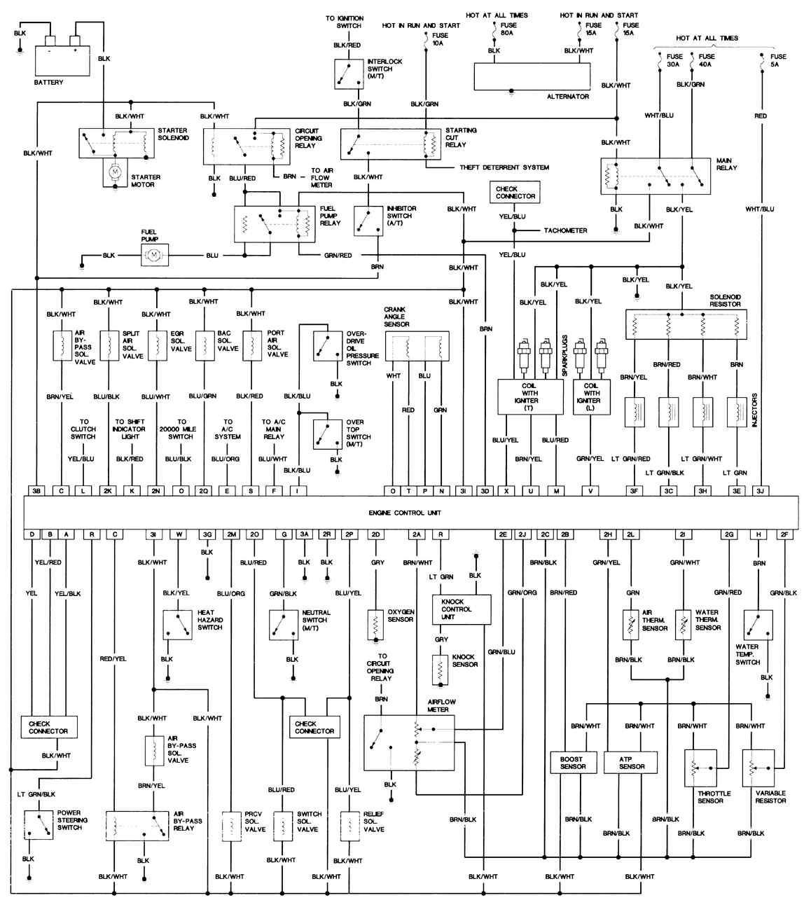 1981 mazda rx 7 electrical wiring diagram