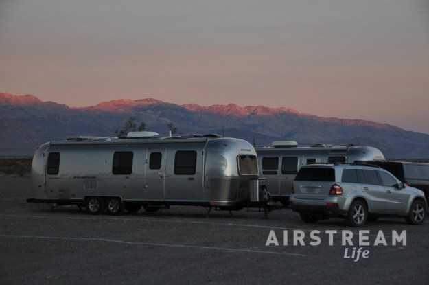 Death Valley Airstreams at sunset
