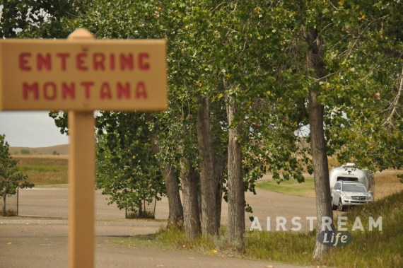 Airstream Montana sign Fort Union