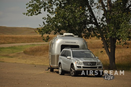 Montana Airstream lunch stop Ft Union