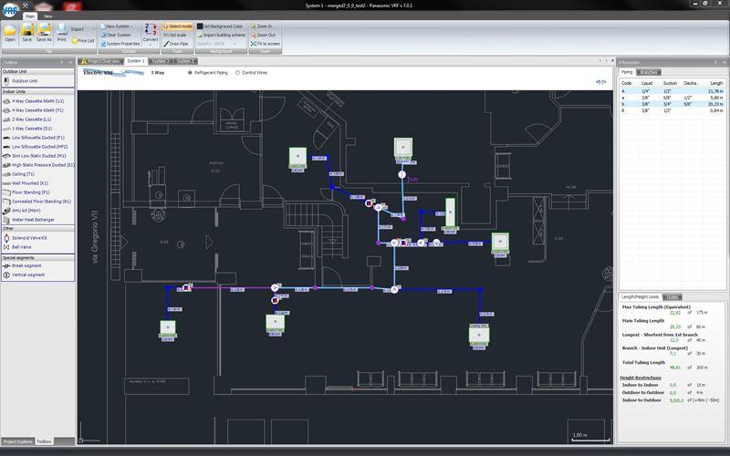 Panasonic\u0027s New Advanced VRF Software with AutoCAD® compatibility