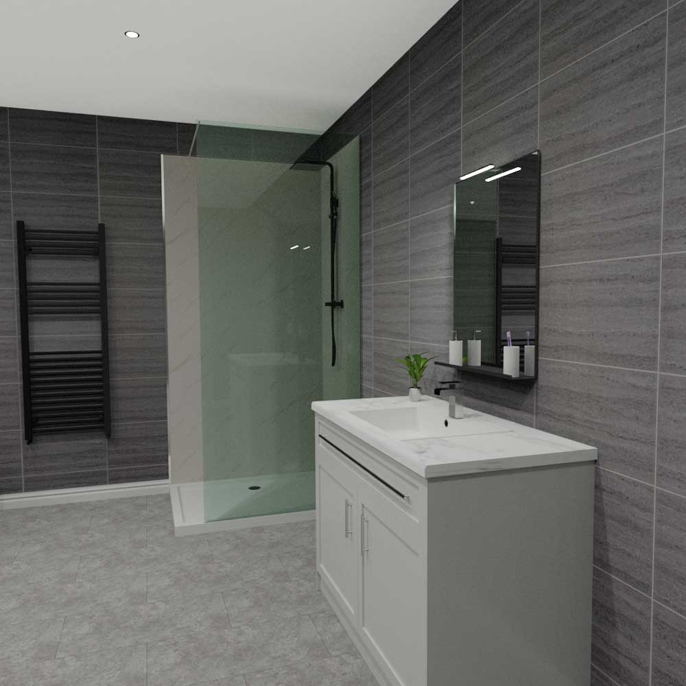 Mb Ultimo Gwent 500mm Wide Tile Effect Bathroom Cladding By Mb Diy