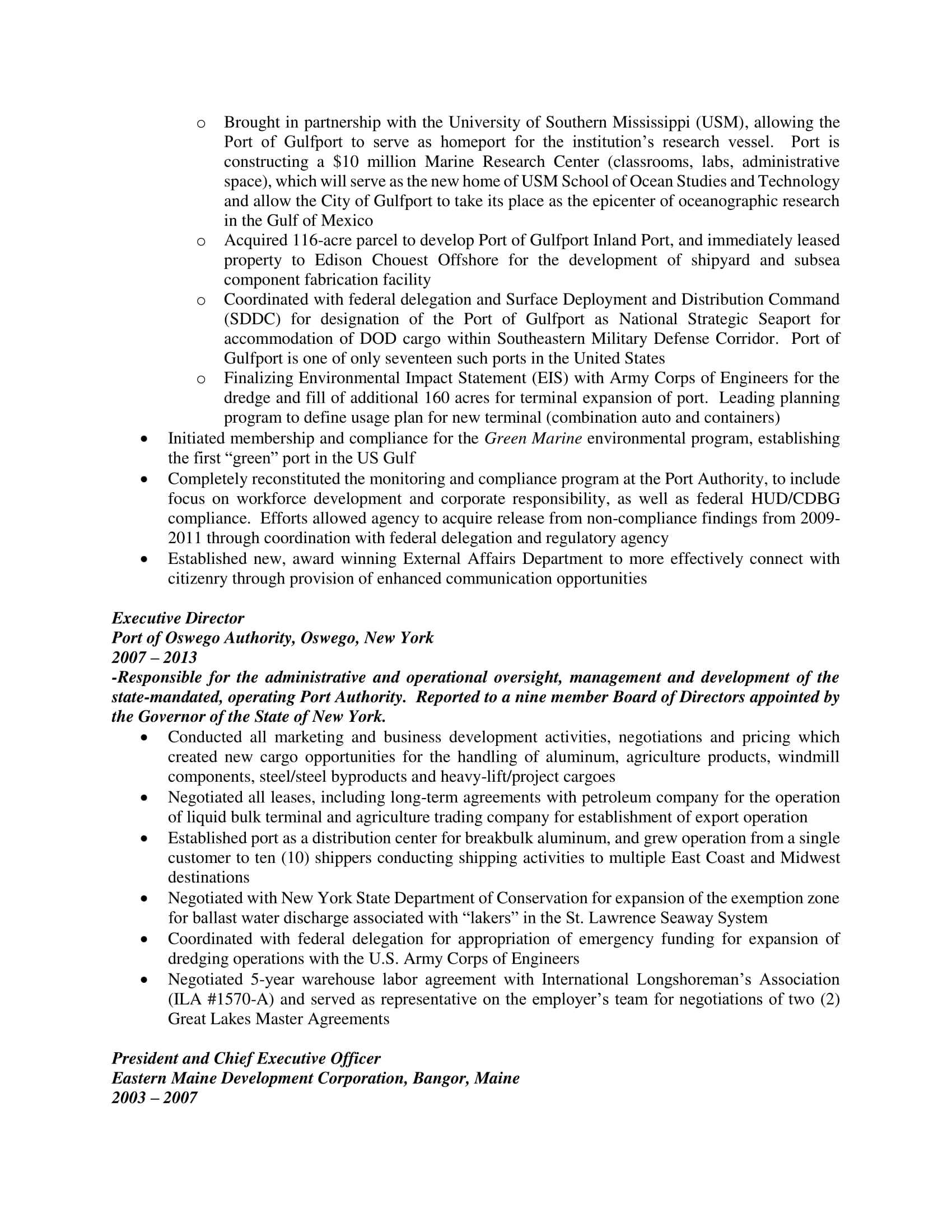 resume executive search and selection