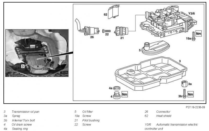clutch solenoid location a604
