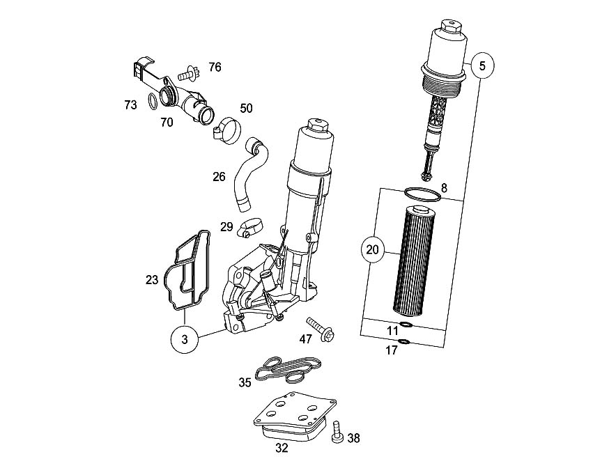 c230 engine cooling diagram