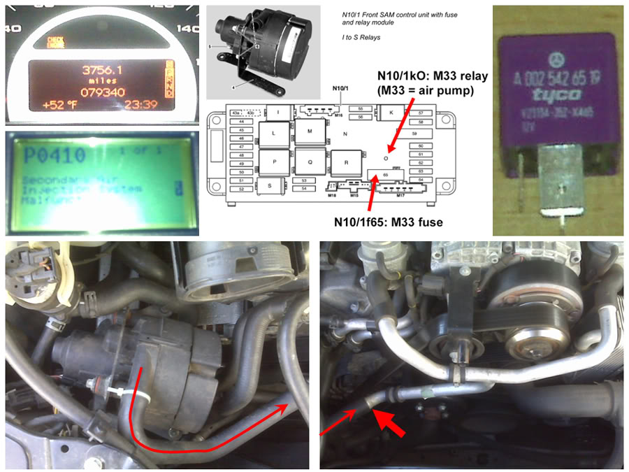 secondary air injection pump relay location