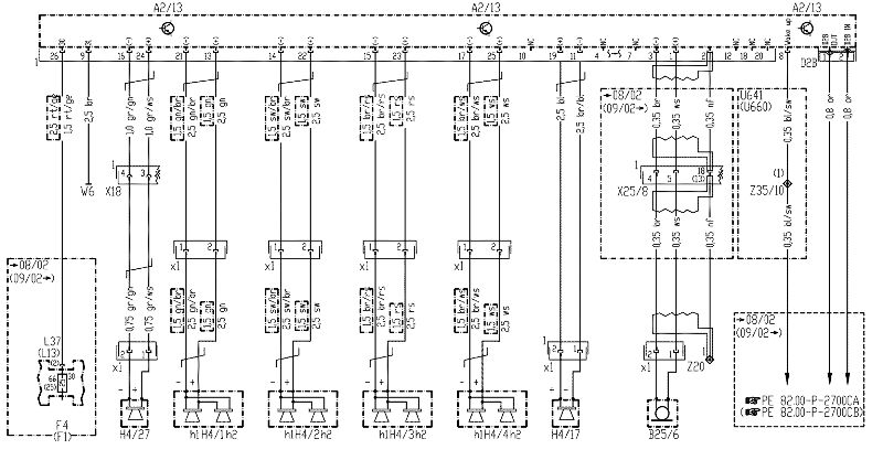 mercedes bose wiring diagram