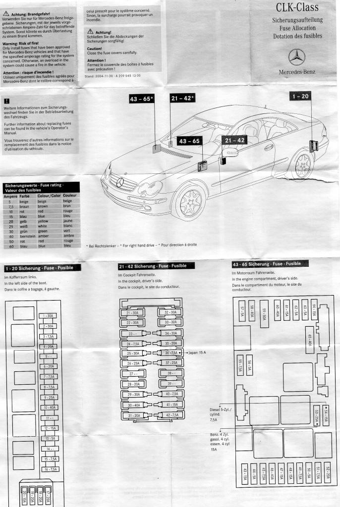 mercedes benz sl 500 fuse box diagram