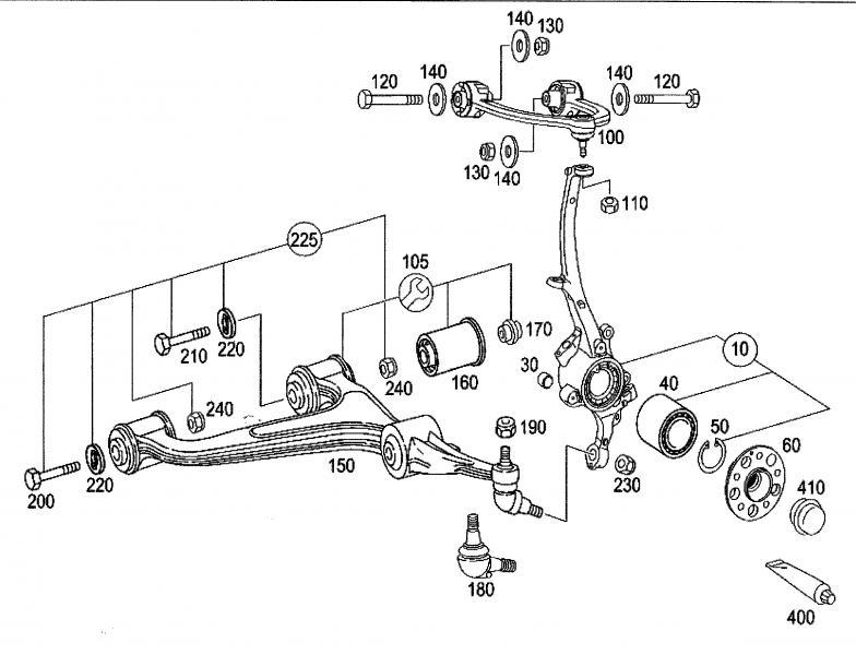 Mercedes Benz Suspension Diagram