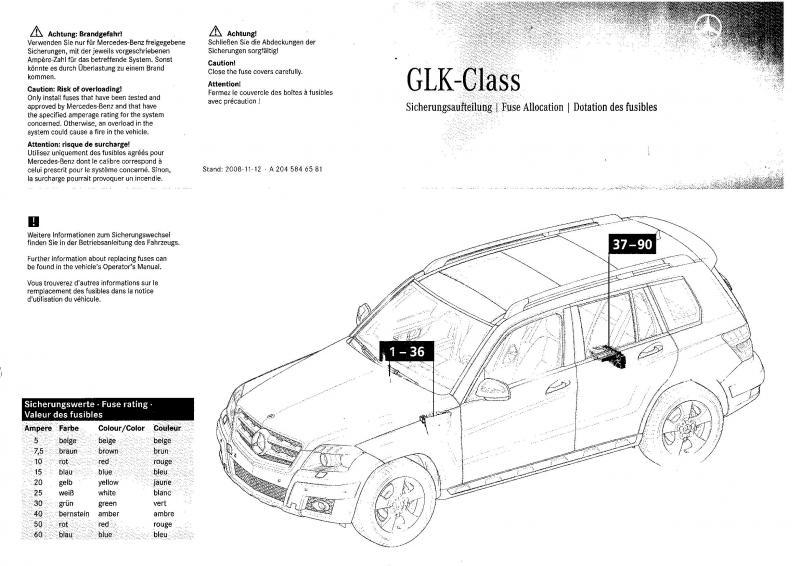 GLK Fuse Chart - MBWorldorg Forums
