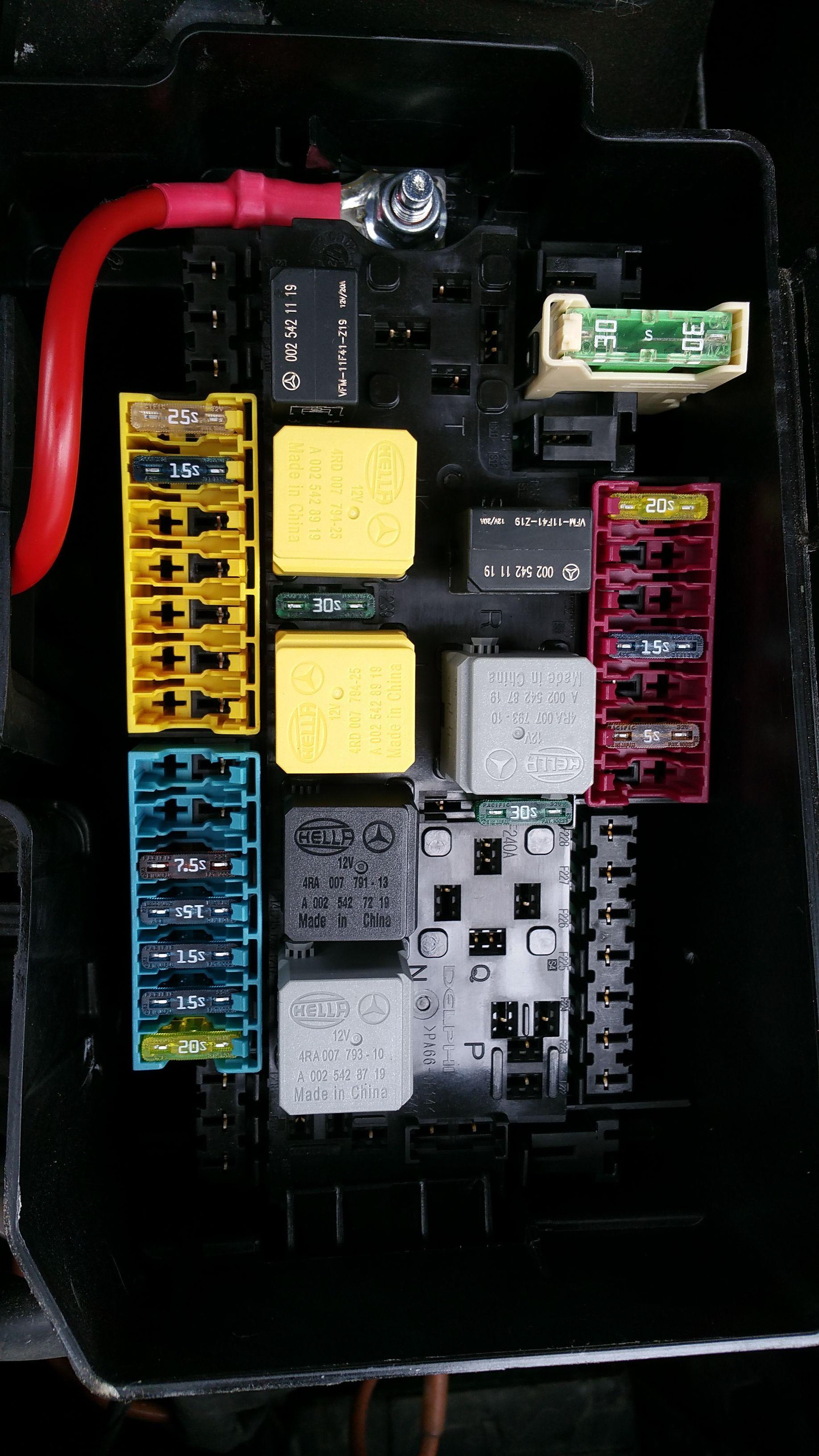 mercedes pre fuse box
