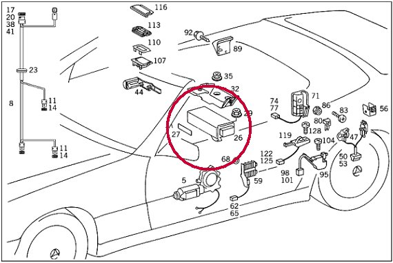 mercedes sl320 wiring diagram