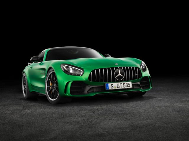 AMG GT R; 2016; Studio;  Exterrieur: AMG Green Hell magno; neuer AMG Panamericana Grill; Kraftstoffverbrauch kombiniert:  11,4 l/100 km, CO2-Emissionen kombiniert: 259 g/km AMG GT R; 2016; studio; Exterior: AMG Green Hell magno, new AMG Panamericana radiator grille; Fuel consumption, combined:   11.4 l/100 km, CO2 emissions, combined:  259 g/km
