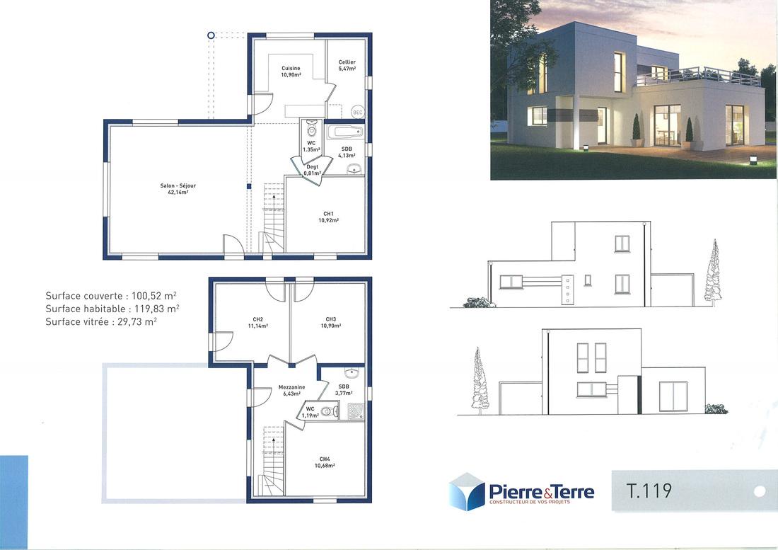 Plan De Maison De Luxe Etage   Conception De Maison 3d Top Toit ...