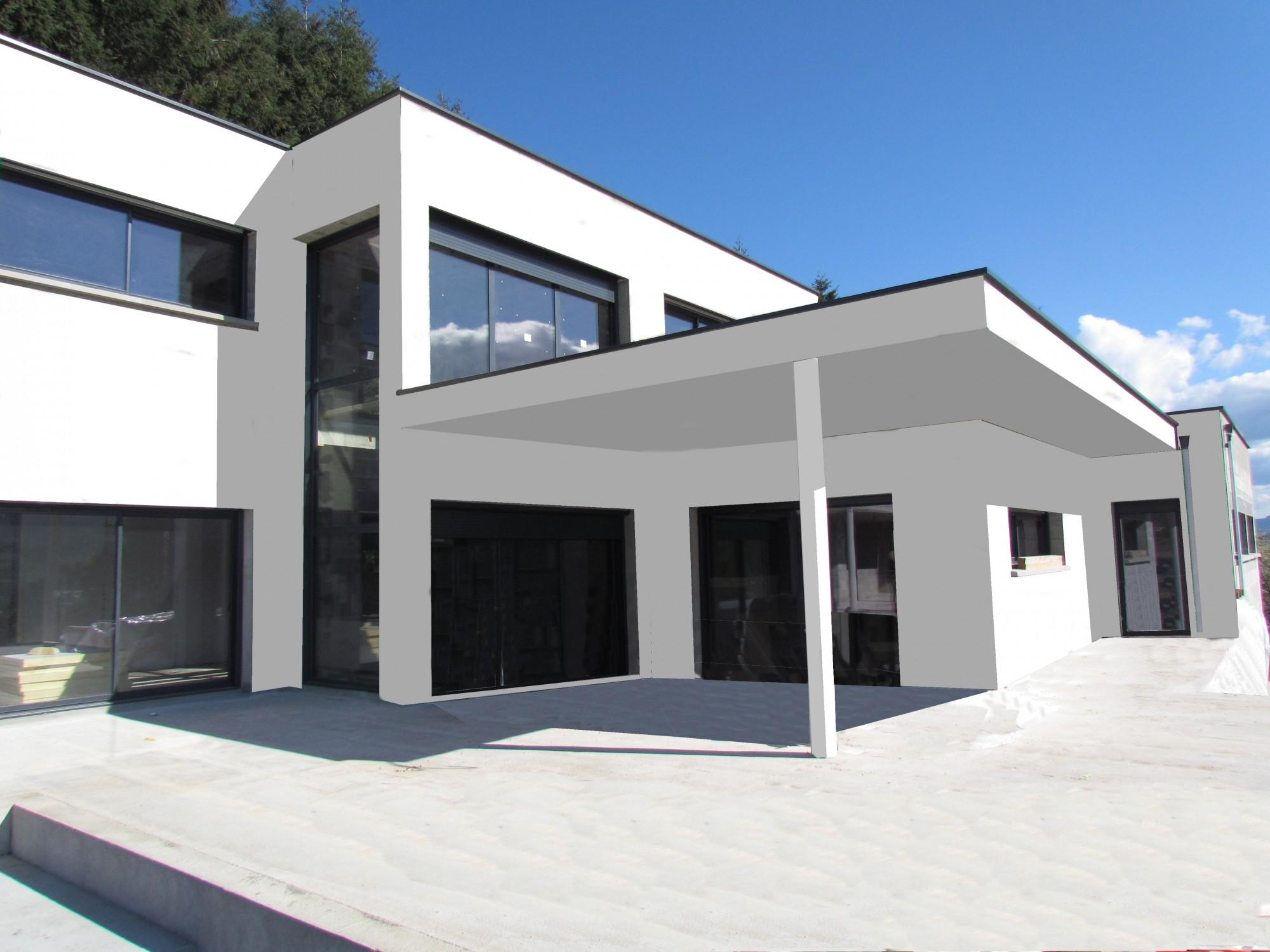 Terrasse Maison Moderne   Maison Moderne Avec Grande Terrasse Et ...