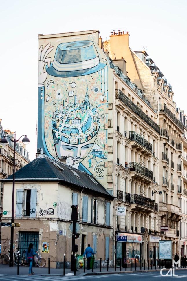 """Fresque """"Coup de chapeau à Paris"""" de Boisrond"""