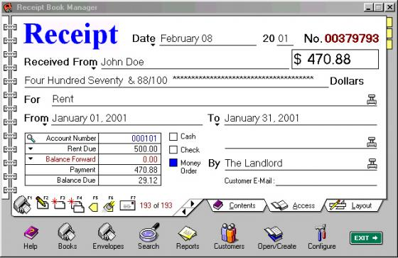 Generate Bill Number with year prefix \/ Create Receipt Number - create a receipt of payment