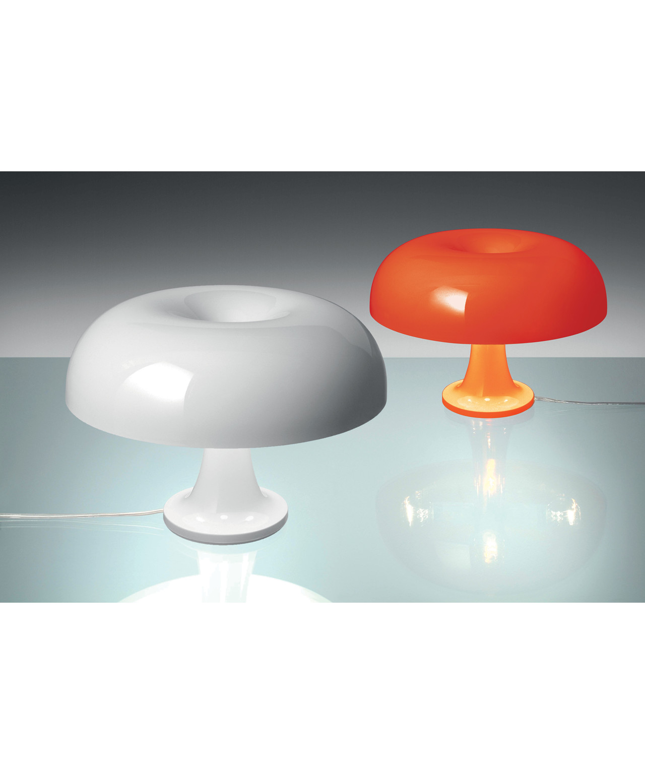 Nessino Artemide Nessino Bordlampe Orange Artemide