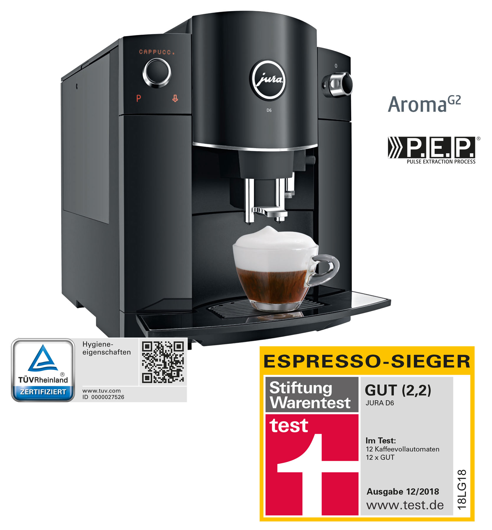 Kaffeemaschine Büro Amazon Jura D6 Piano Black