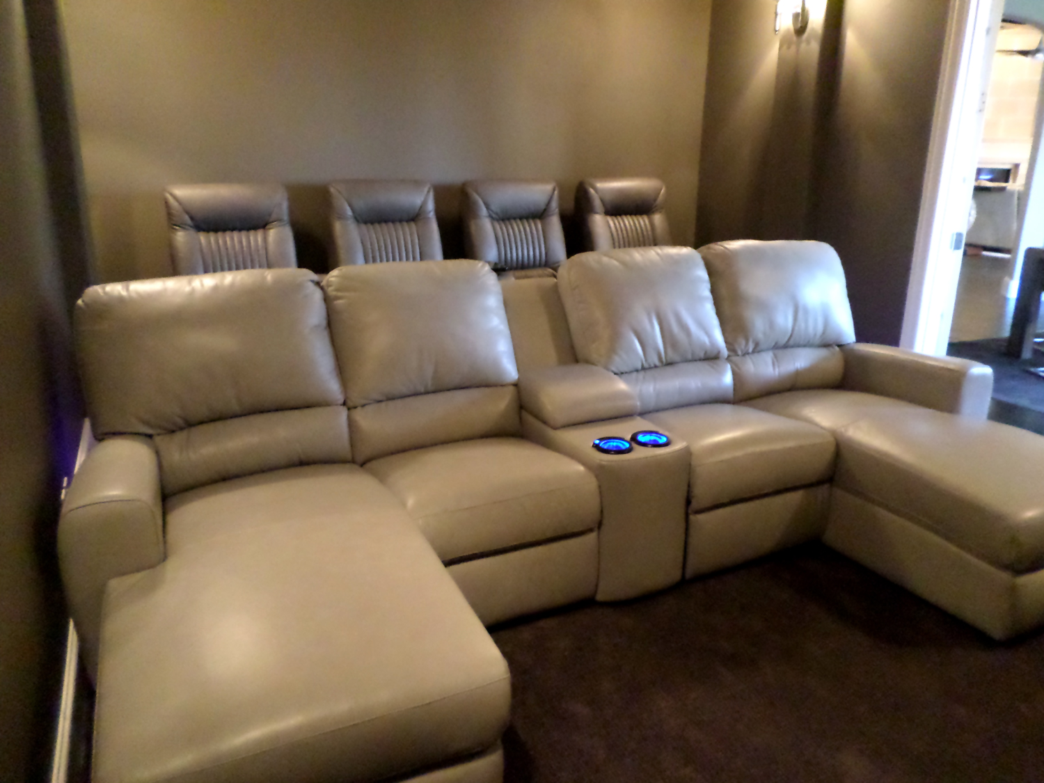Theatre Room Furniture Palliser Theater Seating With Media Sofa Gorgeous Room