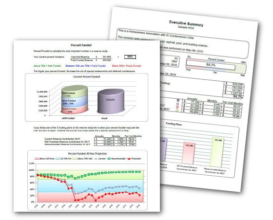 Sample HOA Reserve Study Report - McCaffery Reserve Consulting