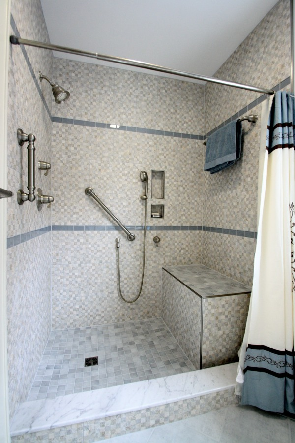 Towel Bar Placement Bathroom Walk In Shower Remodeling Syracuse Cny