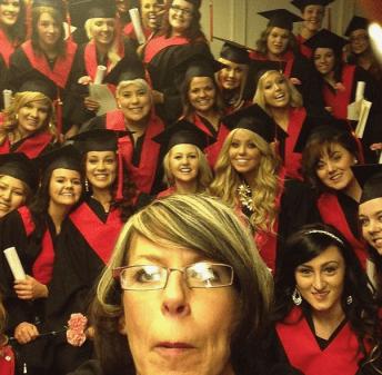 grad selfie