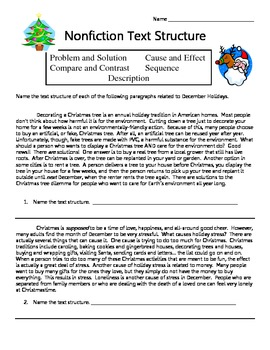 Printables Identifying Text Structure Worksheets