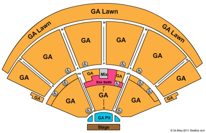The Cynthia Woods Mitchell Pavilion Tickets in Spring Texas, Seating