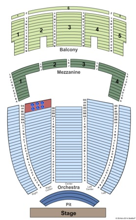 Johnny Mercer Theatre Tickets in Savannah Georgia, Seating Charts
