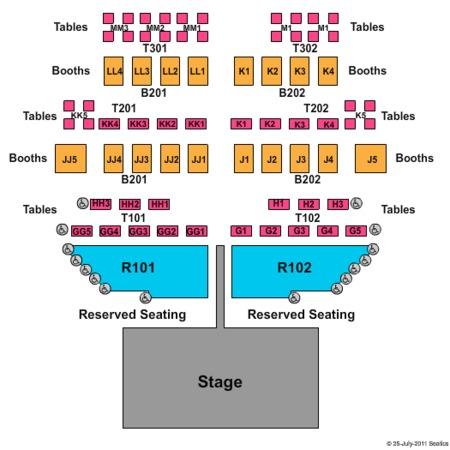 Harrahs Laughlin Fiesta Showroom Tickets in Laughlin Nevada, Seating