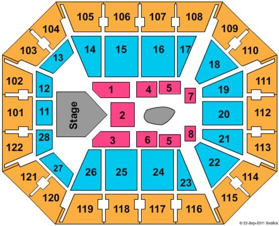 Mohegan Sun Seating Chart View - Best Seat 2018